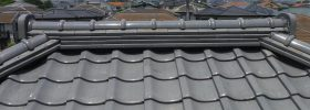 棟取り直し工事。台風、地震、雨漏りに強い屋根に