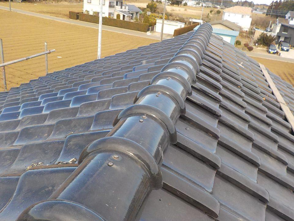 工事完了。トップライトの穴がふさがり、雨漏りに強い屋根に