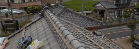 棟瓦の取り直し工事が完了。地震や台風、雨漏りに強い屋根に。