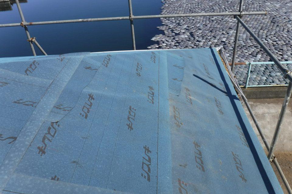 防水シートの施工