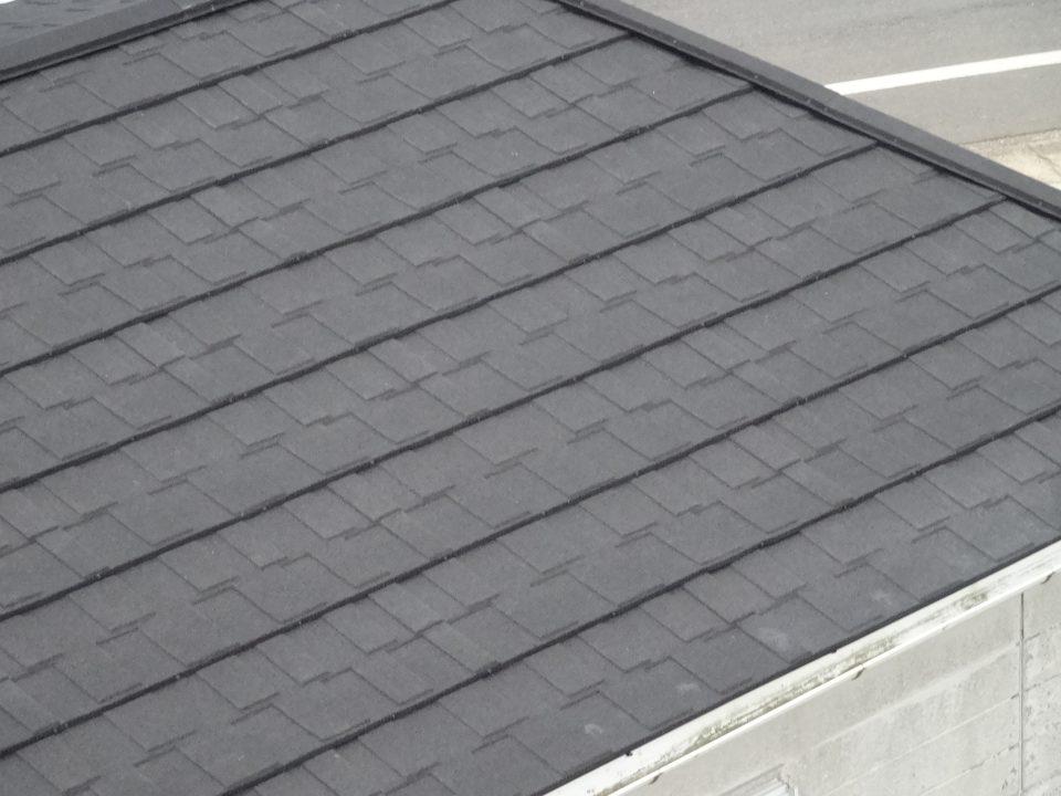 天然石付ガルバリウム鋼板でのリフォーム完了。銚子市