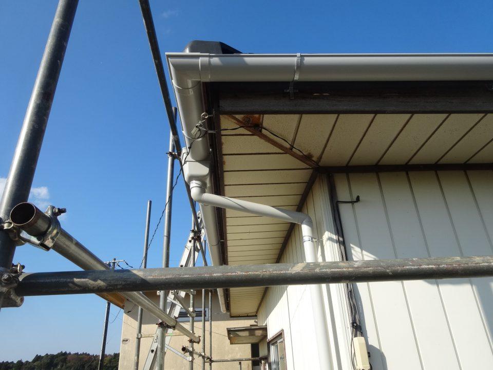雨樋の修理完了