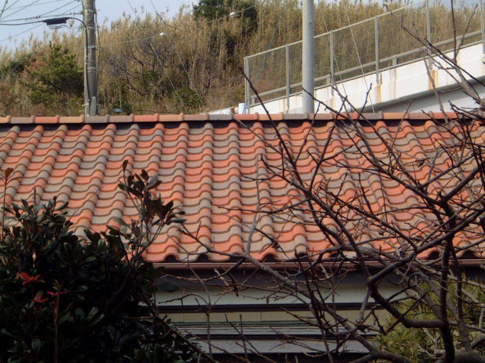 洋風S型瓦の施工。銚子市